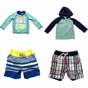 Bundle of (4) Toddler Boys Swim Separates 18 M
